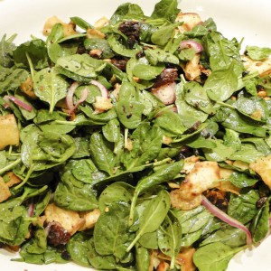 Spinach Salad & Sumac Croutons | Something New For Dinner