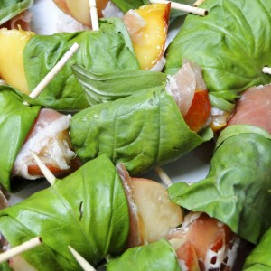 Basil & Prosciutto-Wrapped Peaches   Something New For Dinner