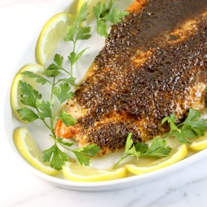 Poached Salmon With Mustard Glaze | Something New For Dinner