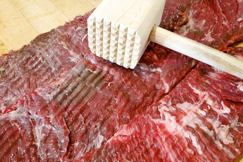 How to cut flank steak for tenderness
