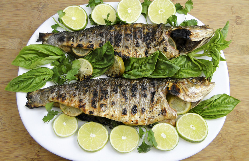 Grilled branzino with lime and herbs something new for for What is branzino fish