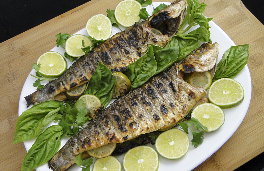 Grilled Branzino With Lime And Herbs | Something New For Dinner