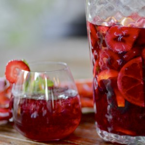Tangerine & Strawberry Sangria | Something New For Dinner