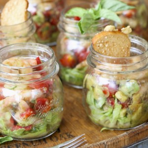 Avocado Shrimp Cocktails In A Jar | Something New For Dinner