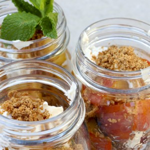 Grilled Peach & Amaretti Parfaits | Something New For Dinner