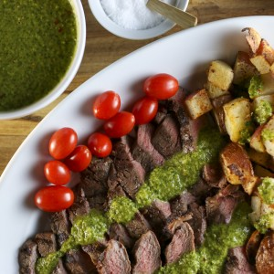 Steak & Potatoes With Chimichurri | Something New For Dinner