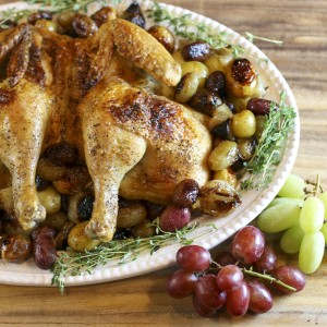 Roast Spatchcock Chicken & Grapes | Something New For Dinner