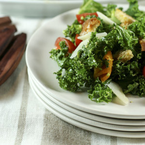 Kale & Broccoli Caesar Salad | Something New For Dinner