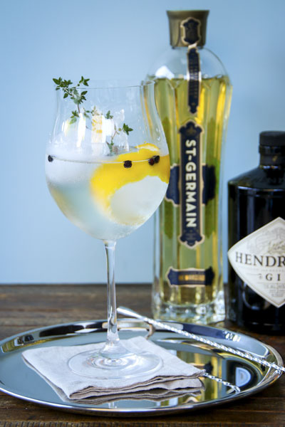 St. Germain Lavender Gin and Tonic | Elderflower Liqueur Recipes And Cocktails For Spring And Summer