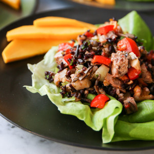 A healthy make-ahead wild and black rice salad studded with turkey, black cherries and walnuts is great for a buffet or potluck and a grab-and-go lunch.