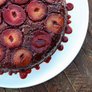 Plum, Rum & Almond Upside Down Cake | Something New For Dinner